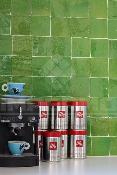 Groene Keuken Tegels : groene zelliges, keuken, impermo, marrokaanse tegels, accent muur