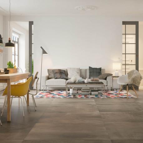 keramische vloertegel, vloertegels, bruin-grijs, betonlook, grohn, impermo