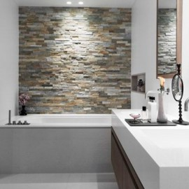 Natural stone strips