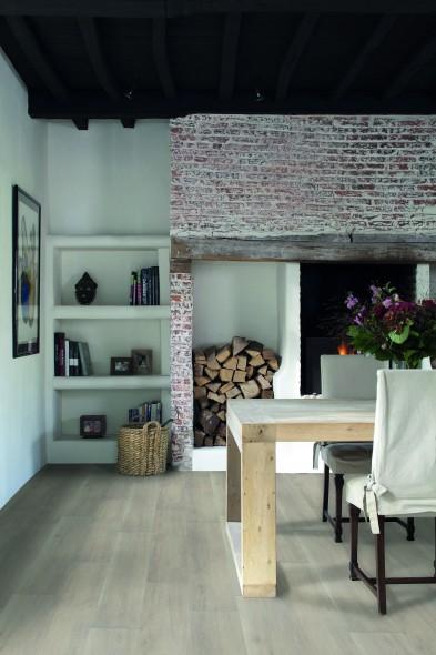 parquet en céramique, carrelage sol, blanc, plancher, imitation bois, chauffage au sol, Ecowood