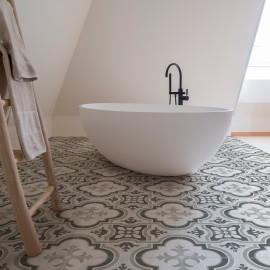 keramische vloertegel, vloertegels, patroon, midden-grijs, impermo, Landelijk & strak