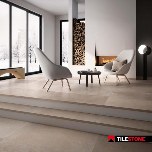 keramische vloertegel, vloertegels, kalksteenimitatie, beige, tilestone, impermo