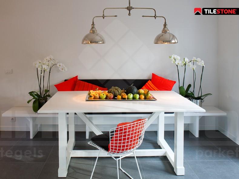keramische vloertegel, vloertegel, antraciet, imitatie natuursteen, imitatie beton, livingtegel, Tilestone